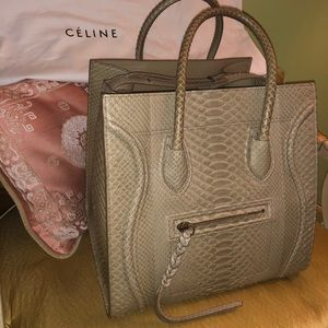 Authentic Celine Python Phantom Luggage Bag